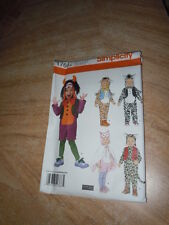 HALLOWEEN CHILDS COSTUME PATTERN SIMPLICITY SIZE 6 MTH TO 4 YRS 5 COSTUMES UNCUT