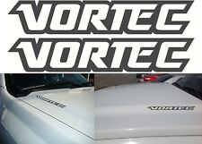 "(2) Flat Black VORTEC 10"" x 2"" Vinyl Decals Stickers New Free Shipping USA"