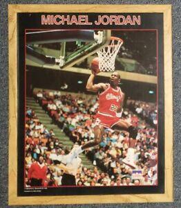 "Vintage 1988 Chicago Bulls Micheal Jordan Framed Starline 20""x16"" Poster"