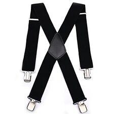 Mens 50MM Wide Heavy Duty Adjustable Elasticated Motorcycle Trouser X Shape Trou