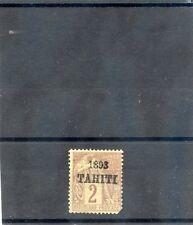 TAHITI Sc 18(YT 20)*F-VF OG, 1893 2c BROWN, PERF NIB, RARE, h/s ROUMET,  $7750