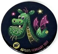 Disney Trading Button Pin AP Days Main Street Electrical Parade Pete Dagon New