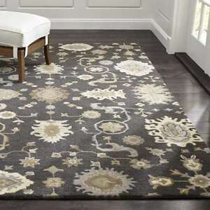 Crate & Barrel 5' x 8' Juno Handmade Parsian Style 100% Woolen Rugs & Carpet