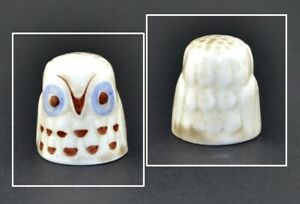 HAND PAINTED OWL THIMBLE
