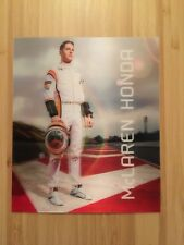STOFFEL VANDOORNE OFFICIAL McLAREN HONDA SPONSOR CARD - UNIQUE 3D LOOK 13 X 15.5
