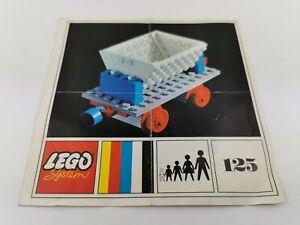 Lego®  nur Bauanleitung only building instructions  Tipping Wagon 125 Eisenbahn