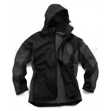 STANDSAFE MENS QUALITY SOFTSHELL HOODED WORKWEAR JACKET BLACK SIZE XXXL 46-48 in