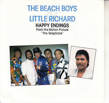 BEACH BOYS California Girls & Happy Endings w LITTLE RICHARD  PICTURE SLEEVE NEW