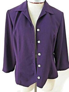 Coldwater Creek Purple Button up Blazer Size 10 lightweight