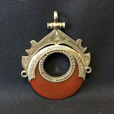 Pendentif argent gravé agate rouge Touareg Bijoux Ethniques collier