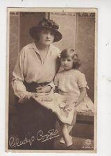 Gladys Cooper Actress & Daughter 1917  Postcard 531a