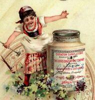 c 1890 LIEBIG S-259 LITTLE CHEFS I Victorian Girls Flowers Set 6 Trade Cards