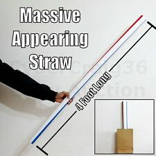 BIG 4 FEET JUMBO APPEARING GIANT STRAW FUNNY COMEDY CLOWN KIDS STAGE MAGIC TRICK