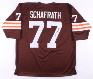 Dick Schafrath Signed Cleveland Browns Jersey (JSA COA) 7xPro Bowl Off. Lineman