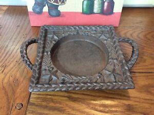 New Yankee Candle Jar Candle Tray Iron Plate with 5 Point Stars Heavy Handles