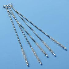 2Pcs Somke Test Tube Nylon Straw Cleaner Brush Bottle Pipe Stainless Metal Tools