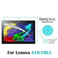 "9H Tempered Glass Protector Film Guard For 10.1"" Lenovo Tab 2 A10-70LC A10-70"