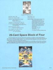 #9218 29c Space Block Stamps #2631-2634 USPS Souvenir Page