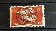 Schweiz Michel-Nr. 147, 10c Friedensvertrag, gestempelt mit kleinem Fehler