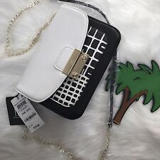 INC INTERNATIONAL CONCEPTS - HADLEE BLACK/WHITE CROSSBODY BAG NWT New