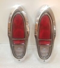 Chevy Cameo GMC Truck Taillight Set Complete 1955-1958 Premium Quality Chrome