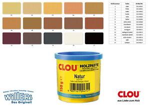 Clou Holzpaste wasserverdünnbar 150 g - Div Farben - Holzkitt - Paste -