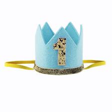 Baby Girls Boys Prince Crown 1st Birthday Party Hat Headband Hairband Head Wear