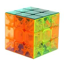 YJ Crystal Transparent Magic Cube 3x3x3 Stickerless Speed Puzzle Toy Brain Power