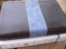 ESV Single Column BIBLE ~ Wide Margin Chocolate SALE