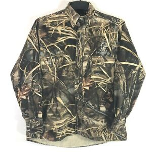 Whitewater Outdoors Ducks Unlimited Mens M Casual Button Down Shirt Front Pocket