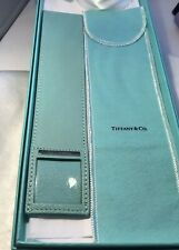 TIFFANY & CO. Turquoise Leather Book Mark - New in Box - 100% Authentic