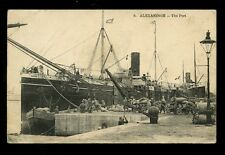 Egypt ALEXANDRIA The Port 1916 PPC loading/unloading ship Equateur