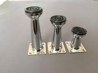Furniture Leg Chrome Furniture Legs Metal Feet Aliminium 5cm 8cm 10cm