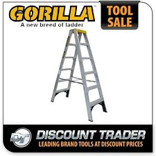 Gorilla Double Sided Aluminium Step Ladder 1.8m (6ft) 150kg Industrial SM006-I