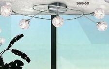 Plafonnier à 5 branches Lustre Lampe à suspension Luminaire Couleur chrome 40622