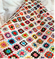 Lovely Granny squares Crochet Blanket- Pattern Only-use up the odd balls of wool