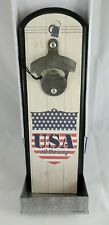 """Wall hung bottle opener with catch tray """"cool catch"""" by Wembley"""