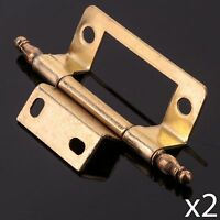 Forge Flush Hinge Brass Finish 50mm Pack of 2 FGEHNGFLBP50 2in