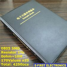 0805 1 Smd Smt Chip Resistors Sample Book Assorted Kit 170values X25 Assortment