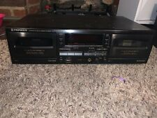 Pioneer Stereo Double Cassette Deck Ct-w505r