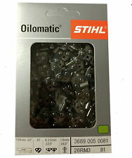 STIHL 3689 005 0081 Oilomatic 26 RM3 81 Rapid Super Chainsaw Replacement Chain