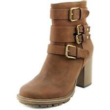 Botas de mujer botines de tacón alto (más que 7,5 cm) de color principal marrón