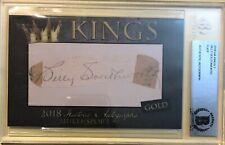 Billy Southworth 2018 Historic Autographs Ha Kings 2 Gold Cut Auto Signature 6/8