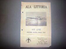 antique Ala Littoria italy italian airlines Fascist 1930's ww2 palestine travel