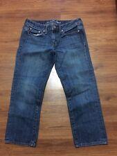 American Eagle Boy Fit Capris Womens Size 2 Regular Blue Denim Cropped Jeans.