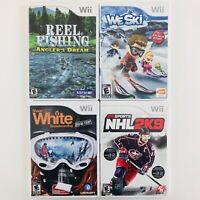 NHL 2K9 / We Ski / Reel Fishing / Shaun White - 4 Nintendo Wii Sports Games Lot