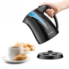 1.7l Electric Kettle Black & Blue 360° Cordless Portable 2200w Rapid Boil Jug