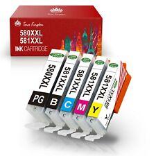 5-24 XXL Drucker Patronen für Canon PGI 580 CLI 581 Pixma TS6150 TR7550 TR8550