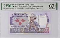 Madagascar 1000 Francs 200 Ariary 1988-93 P 72 b Superb Gem UNC PMG 67 EPQ Top