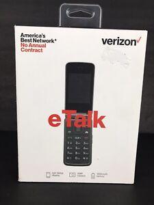 VERIZON Prepaid (locked) eTalk 4GB/ Gray/ Flip Phone Brand New & Sealed